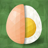 Half of abstract polygonal egg Royalty Free Stock Photo