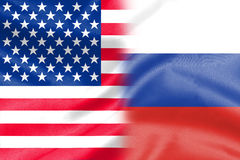 Half america half russia flag Royalty Free Stock Images