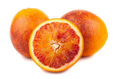 Half And Full Bloody Red Oranges Stock Image