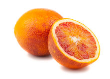 Half And Full Bloody Red Oranges Stock Photography