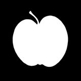 Half Apple Stock Photo