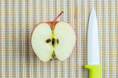 Half of an apple Royalty Free Stock Images