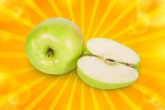 Half apple Stock Photos