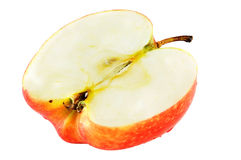 Half apple isolated. On white background Royalty Free Stock Image