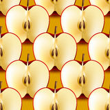 Half apple seamless pattern Stock Image