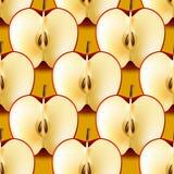 Half apple seamless pattern Stock Image
