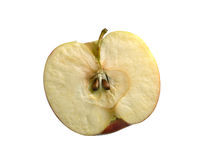 Half an apple on a white background Stock Photography