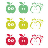 Half apples art Royalty Free Stock Images