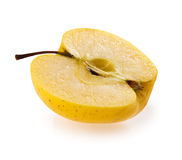 Half apples isolated Stock Images