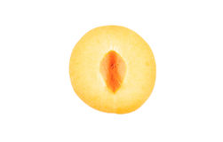 Half of apricot Royalty Free Stock Photography