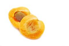 Half aprikos Arkivfoto