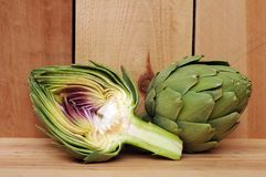 Half of artichoke Stock Photos
