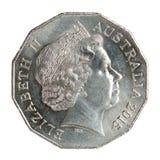 Half australian dollar coin royalty free stock image