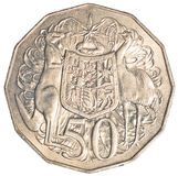 Half Australisch dollarmuntstuk Stock Foto