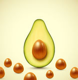 Half an avocado Royalty Free Stock Photos