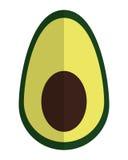 Half avocado icon Stock Images