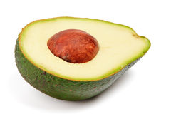 Half of avocado with pit Royalty Free Stock Image