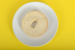 Half a Bagel Stock Photo