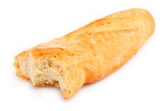 Half of baguette Stock Image