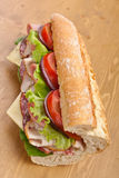 Half Baguette Meats Sandwich Royalty Free Stock Photography