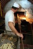 Half-baked pretzel Royalty Free Stock Image