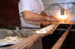 Half-baked pretzel Stock Photography