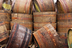 Half Barrels Royalty Free Stock Photo