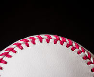 Half baseball background. With black copy space Stock Photo
