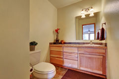 Half bathroom interior with beige walls Royalty Free Stock Photography
