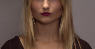 Half of Beauty Female Face. Beautiful cheekbones Royalty Free Stock Image