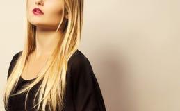 Half of Beauty Female Face. Beautifull cheekbones Stock Image