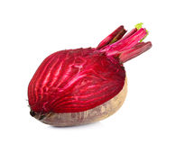 Half of beetroot isolated on white background Royalty Free Stock Images