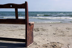 Half bench near the sea Royalty Free Stock Photo