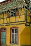 Half betimmerd huis bij ecomusee in de Elzas Royalty-vrije Stock Foto
