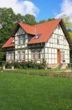 Half betimmerd huis-I-Goettingen-Duitsland Stock Foto