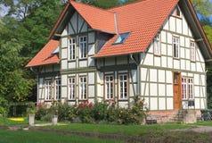 Half betimmerd huis-ii-Goettingen-Duitsland Royalty-vrije Stock Foto's