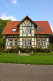 Half betimmerd huis-iii-Goettingen-Duitsland Stock Foto