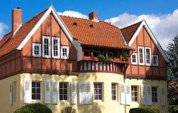 Half betimmerd huis-v-Goettingen-Duitsland Stock Fotografie
