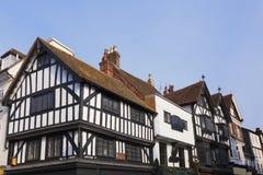 Half Betimmerd van Salisbury Wiltshire Gebouwen stock afbeeldingen