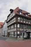 Half betimmerd voorgevel-ii-historisch stad-Goettingen Stock Afbeeldingen
