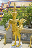 Half bird and giant statue at Emerald Buddha Temple Royalty Free Stock Photo
