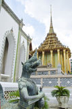 Half bird and human statue at Emerald Buddha Temple Royalty Free Stock Photo