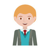 Half body blond man with formal suit and business Royalty Free Stock Images