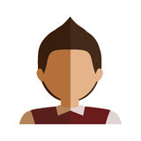 Half body boy half brunette and caucasian blazer. Vector illustration Royalty Free Stock Image