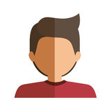 Half body boy half brunette and caucasian. Vector illustration Royalty Free Stock Image