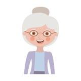 Half body elderly woman with jacket Stock Image