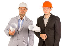 Half Body Engineers Looking at Camera Portrait Royalty Free Stock Image