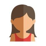 Half body gilr half brunette and caucasian Stock Image
