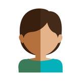 Half body gilr half brunette and caucasian short hair. Vector illustration Royalty Free Stock Image