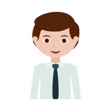Half body man with formal shirt. Vector illustration Stock Images